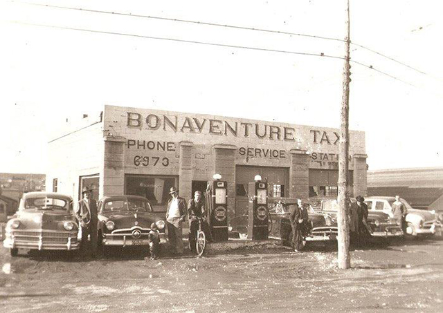 Bonaventure Taxi -- now Healey's Auto Body Shop Ltd.